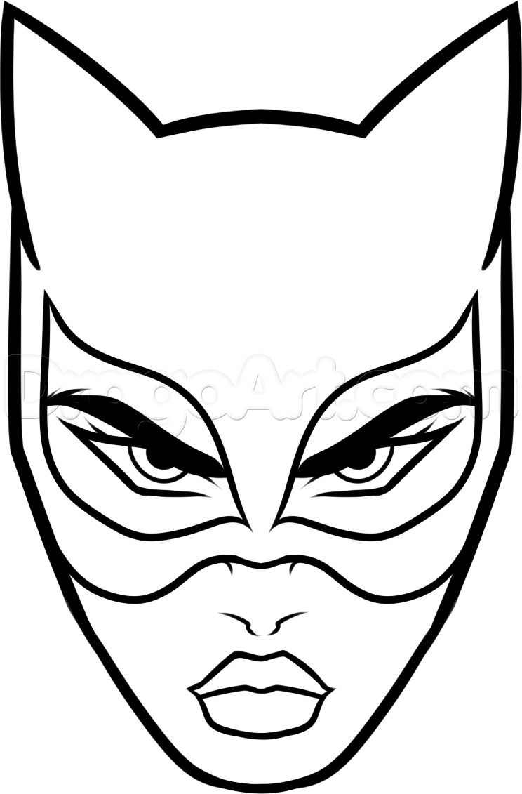 coloriage heros catwoman