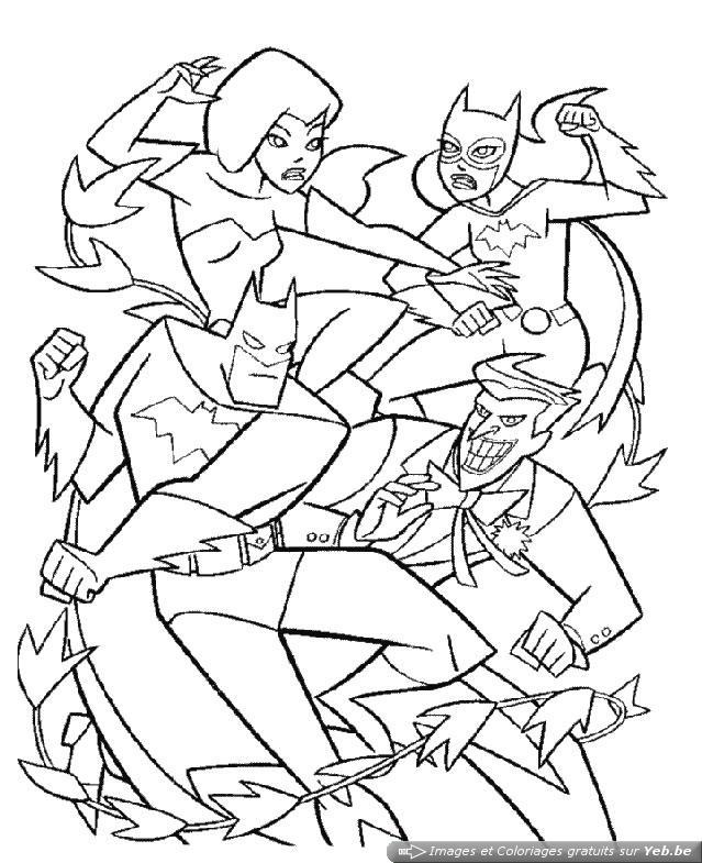 coloriage à dessiner catwoman