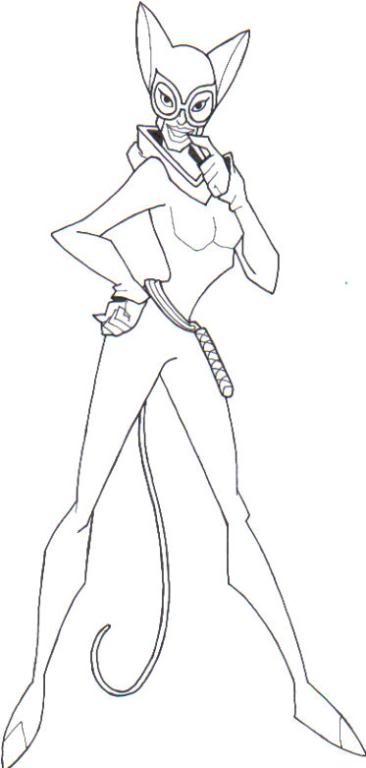94 dessins de coloriage Catwoman
