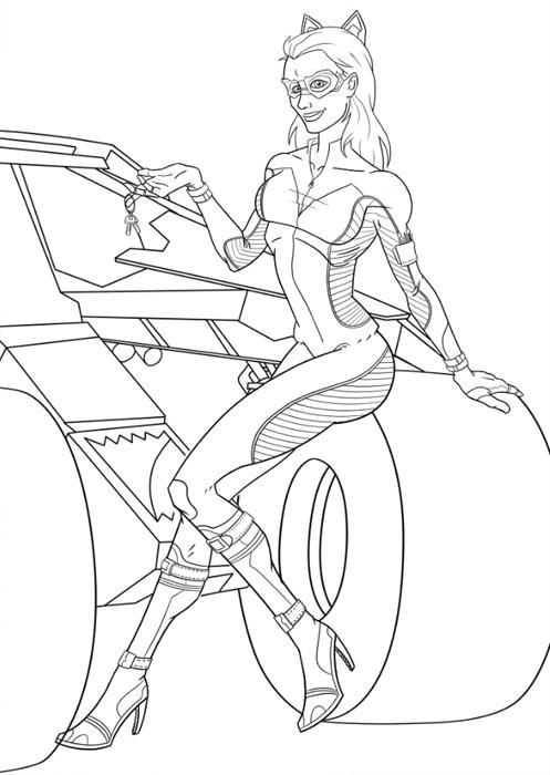 dessin à imprimer catwoman