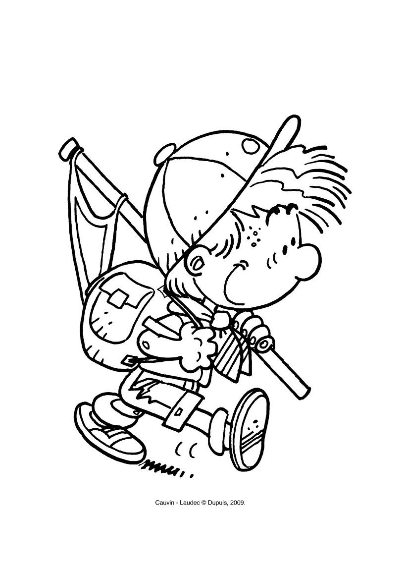 dessin à colorier de cedric gratuit a imprimer