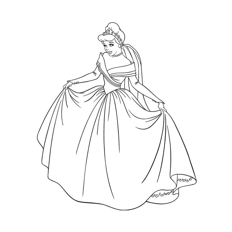 20 dessins de coloriage Cendrillon Gratuit à imprimer
