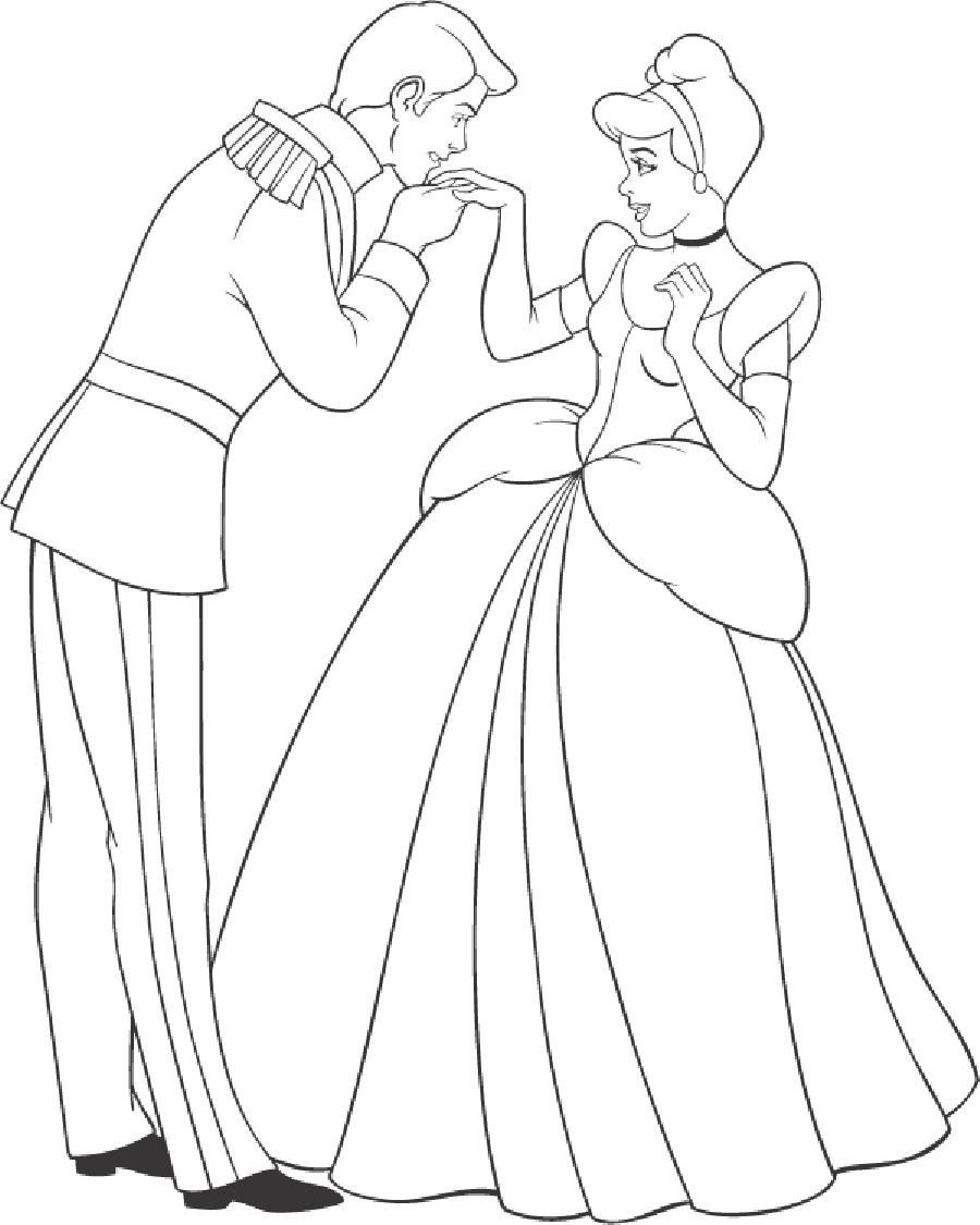 19 dessins de coloriage cendrillon prince imprimer - Dessin de cendrillon ...