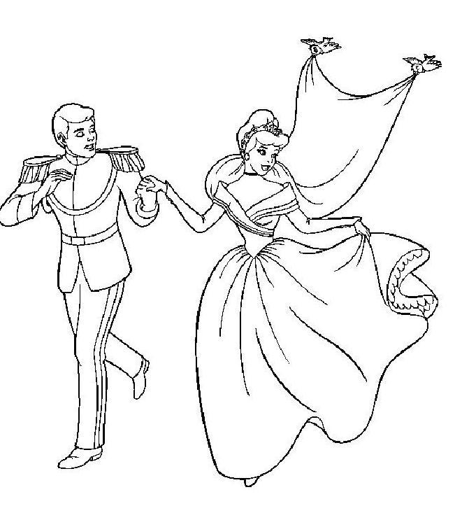 19 dessins de coloriage cendrillon prince imprimer - Cendrillon a imprimer ...