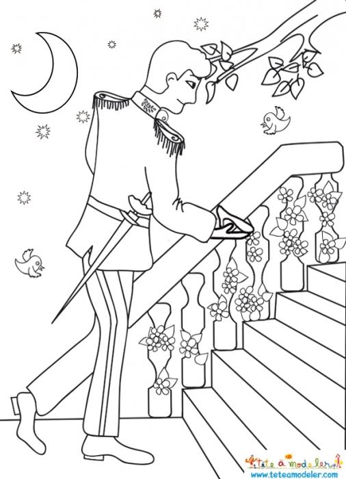 19 dessins de coloriage cendrillon prince imprimer - Coloriage de prince ...