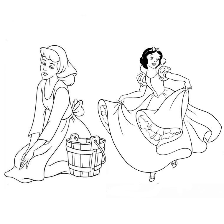 dessin à colorier cendrillon prince