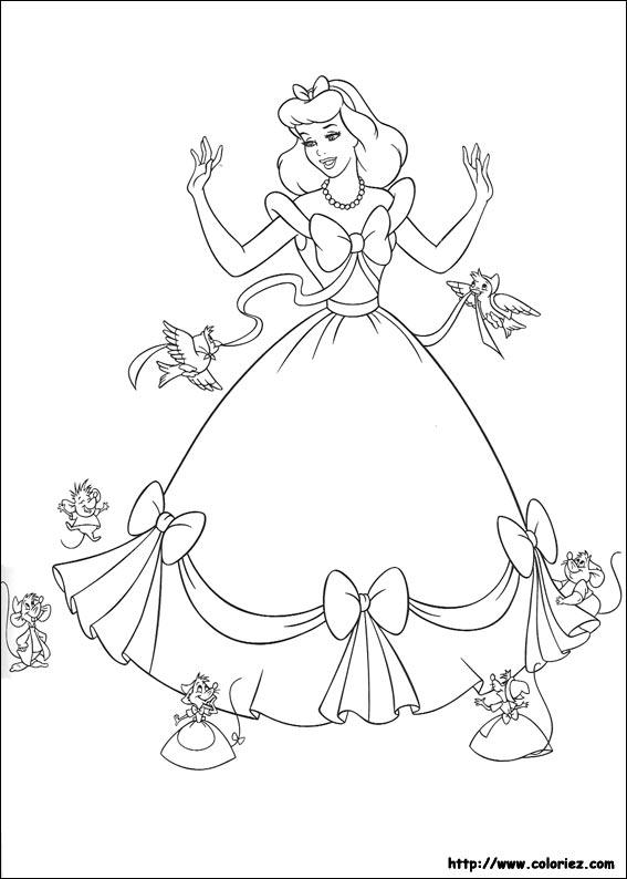 dessin à colorier a imprimer cendrillon 3