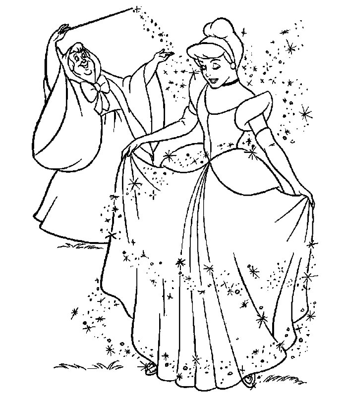 Coloriage ã Dessiner Cendrillon Walt Disney
