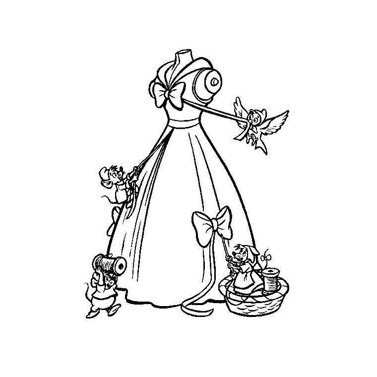 dessin de cendrillon à imprimer gratuit
