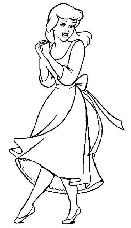 Coloriage dessiner cendrillon walt disney - Dessin a imprimer cendrillon ...