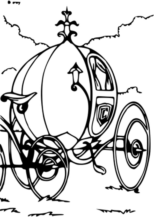 dessin � colorier cendrillon noel