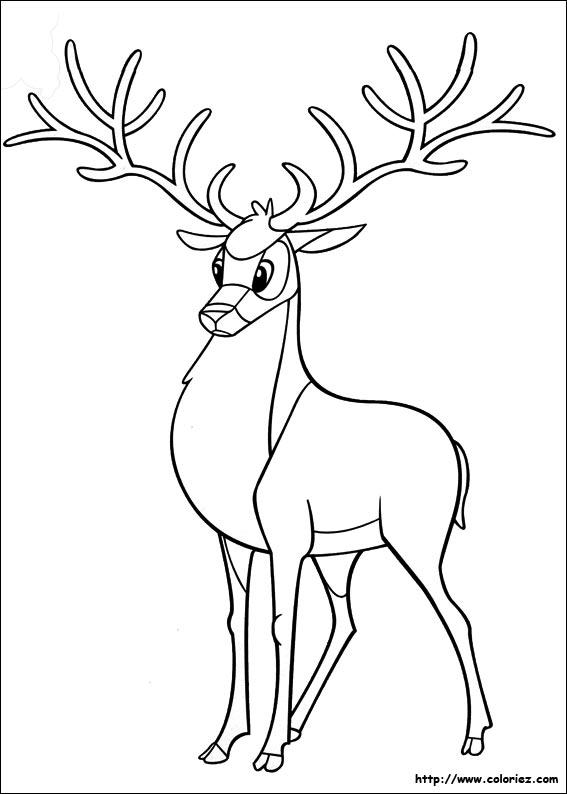 19 dessins de coloriage cerf a imprimer imprimer - Dessiner un cerf ...