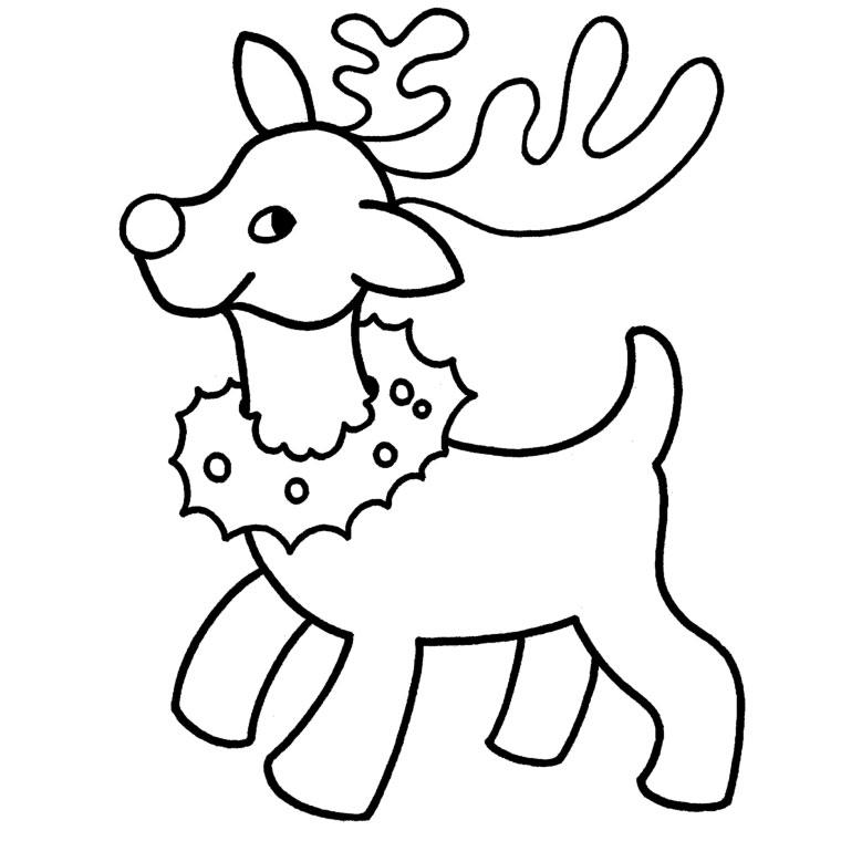 19 dessins de coloriage cerf de noel imprimer - Imprimer dessin de noel ...