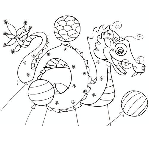 20 dessins de coloriage cerf volant chinois imprimer - Coloriage chine ...