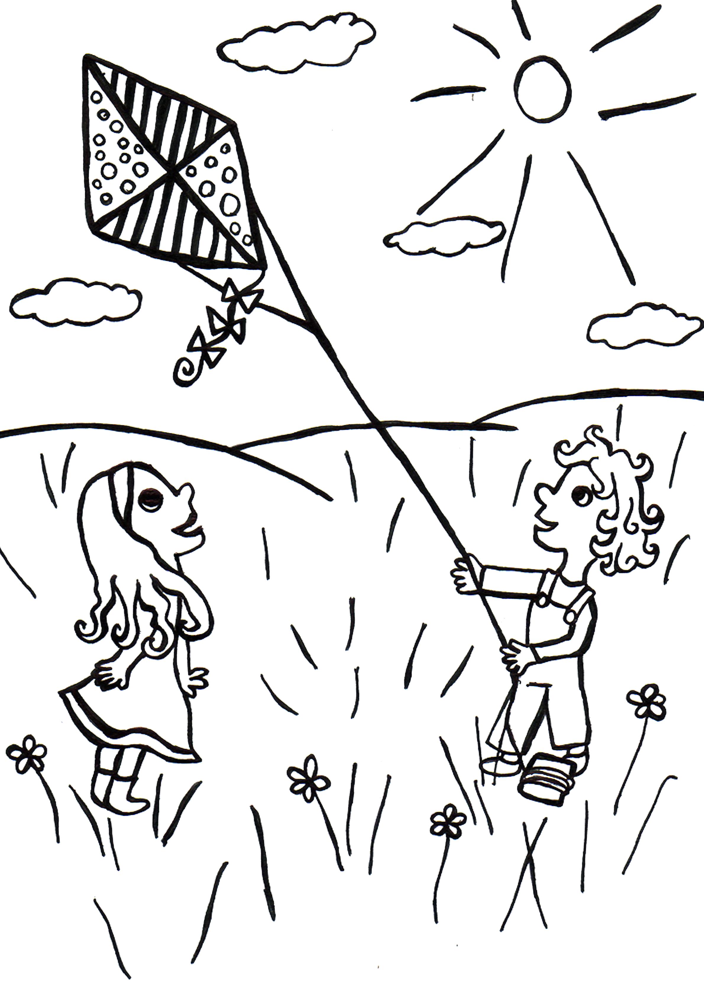 20 dessins de coloriage Cerf Volant à imprimer