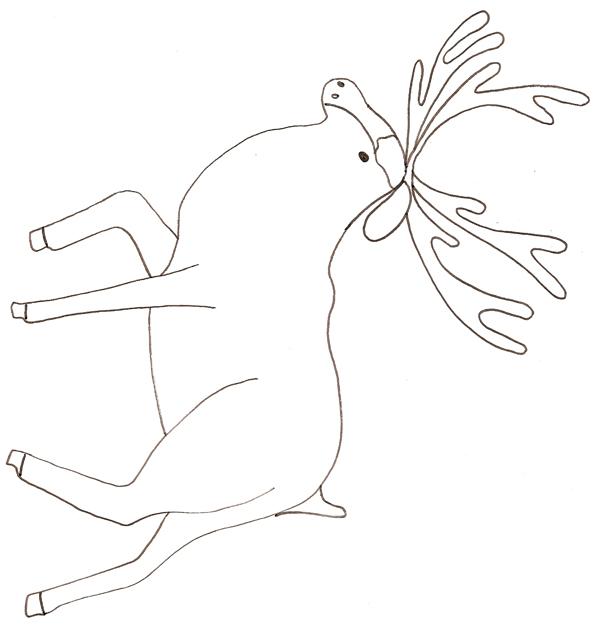 coloriage à dessiner de cerf a imprimer
