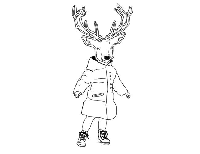 coloriage à dessiner cerf gratuit