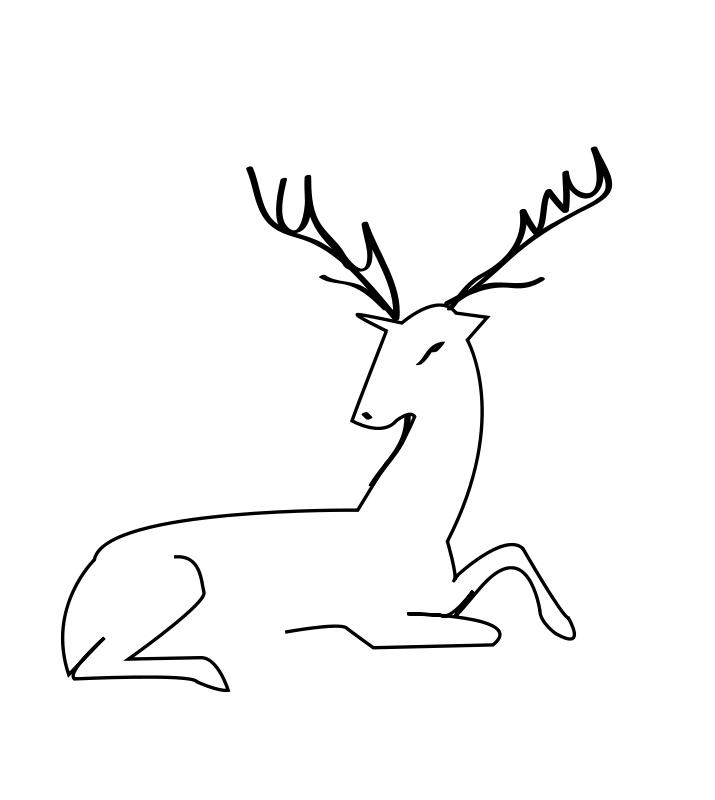 dessin cerf et lapin