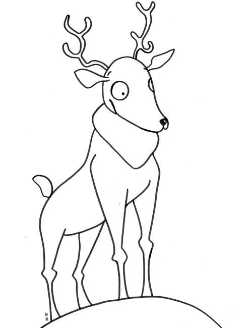 coloriage à dessiner de cerf volant a imprimer