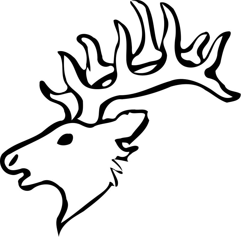 dessin à colorier cerf pere noel