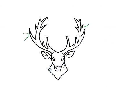 dessin à colorier de cerf volant a imprimer