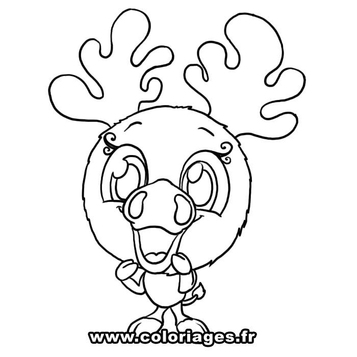 dessin à colorier de cerf en ligne