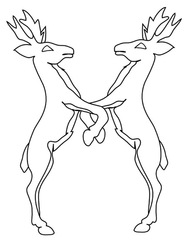 dessin cerf de noel