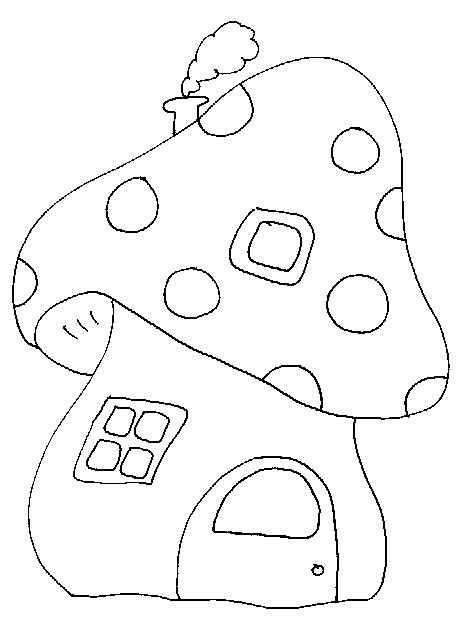 dessin champignon imprimer gratuit