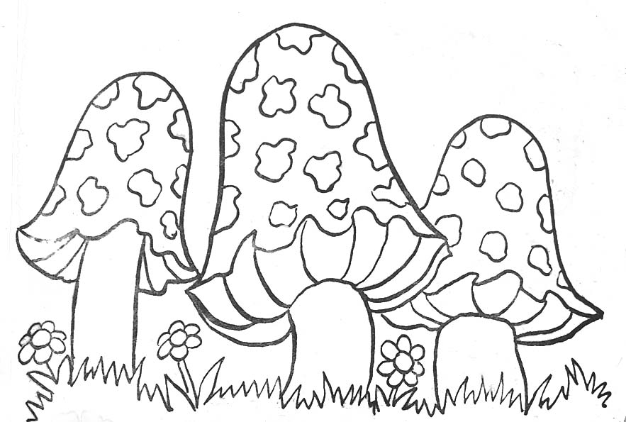 31 dessins de coloriage champignon imprimer - Dessin de champignons a imprimer ...