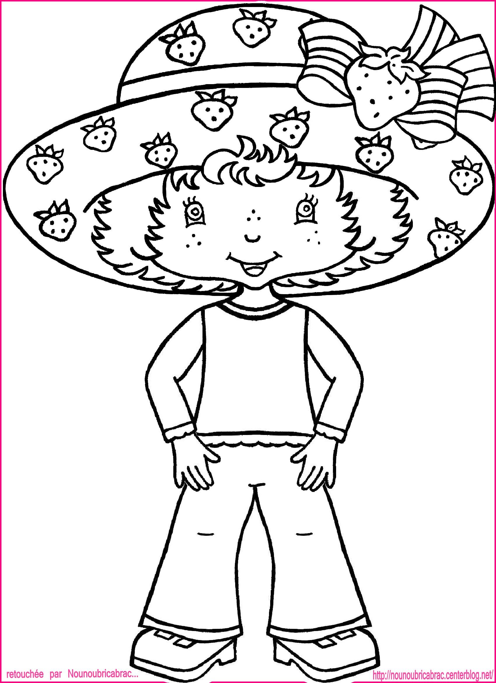 top coloriage à dessiner charlotte aux fraises