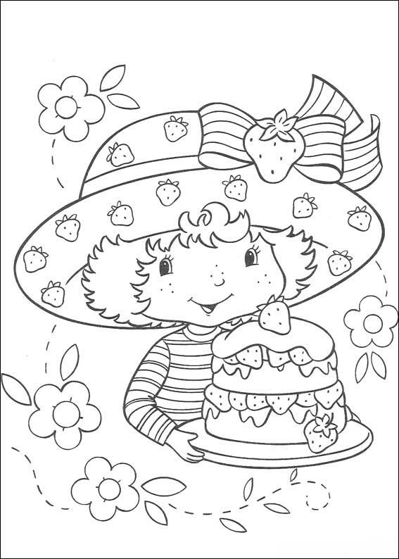 coloriage à dessiner charlotte aux fraises sur ordinateur