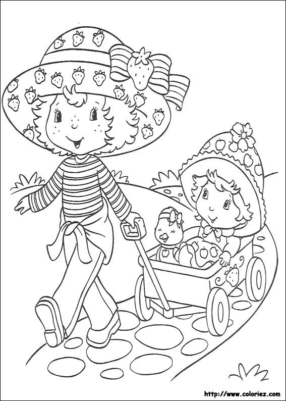 55 dessins de coloriage charlotte aux fraises imprimer - Charlotte aux fraises et ses copines ...
