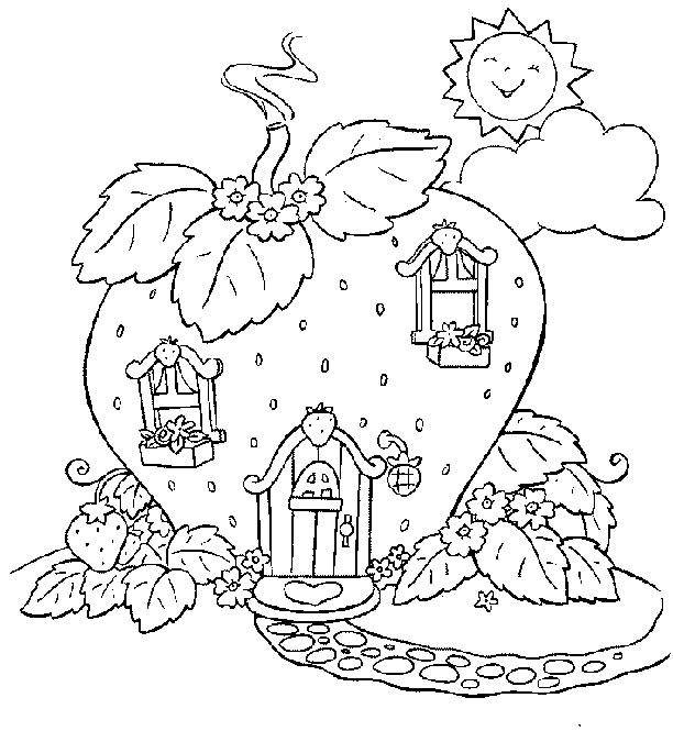 coloriage à dessiner charlotte aux fraises en ligne gratuit