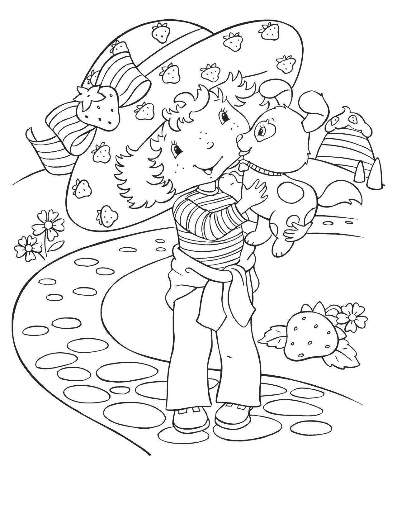 dessin à imprimer charlotte aux fraises gratuit