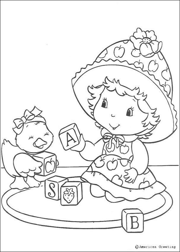 dessin à colorier maison de charlotte aux fraises