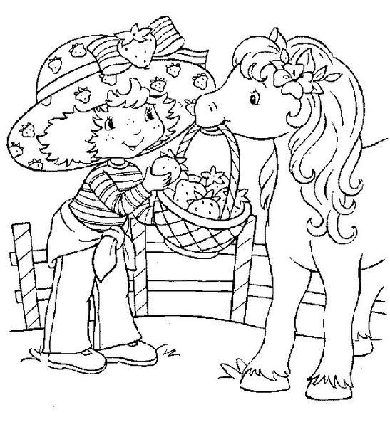 dessin à colorier charlotte aux fraises et ses amies à imprimer