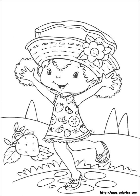 top dessin à colorier charlotte aux fraises