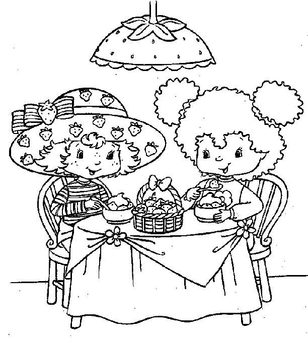 coloriage à dessiner charlotte aux fraises gratuit