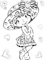 coloriage à dessiner charlotte aux fraises mimi citron