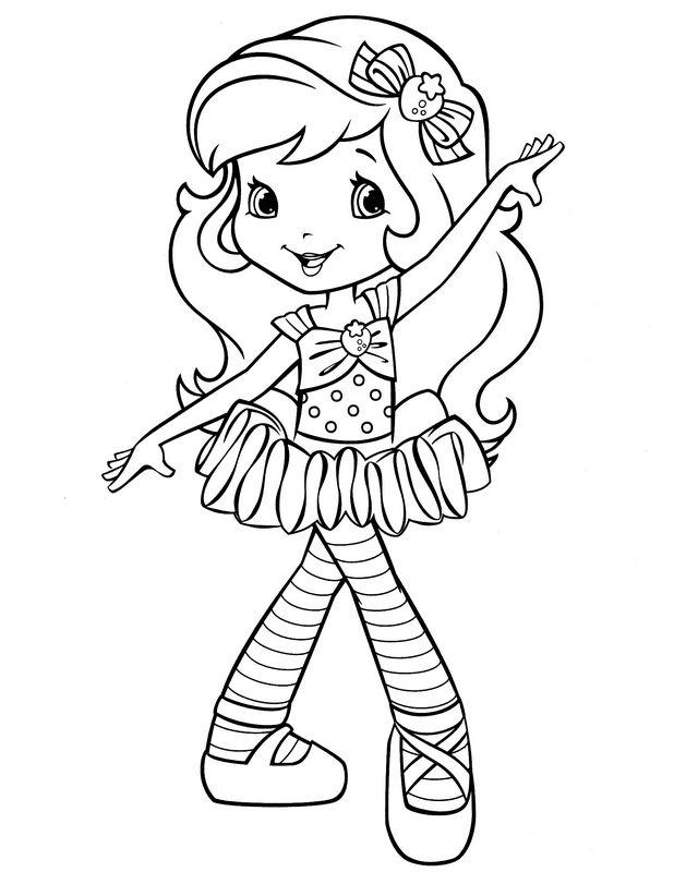 16 dessins de coloriage charlotte aux fraises danseuse - Charlotte aux fraises dessin ...