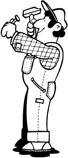 dessin de charpentier
