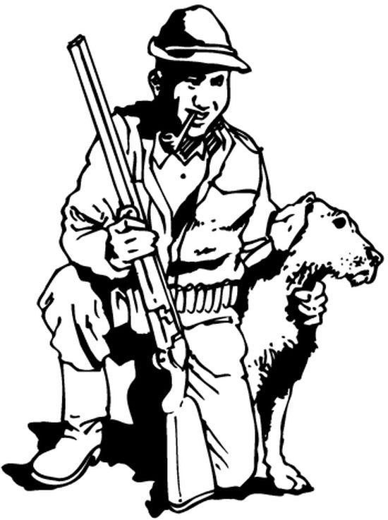 12 dessins de coloriage chasseur sanglier imprimer - Dessiner un faucon ...