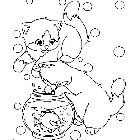 20 dessins de coloriage chat imprimer gratuit imprimer - Coloriages chatons ...