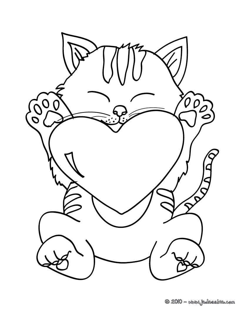 20 dessins de coloriage chat imprimer imprimer - Modele dessin chat facile ...