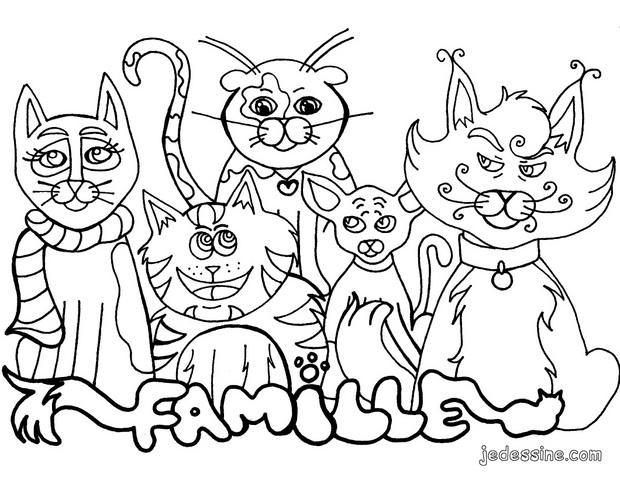 Coloriage le chat - Coloriage des chats ...