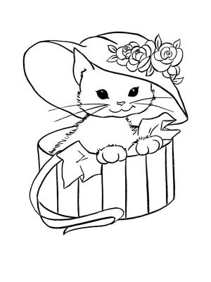 coloriage d'un chat