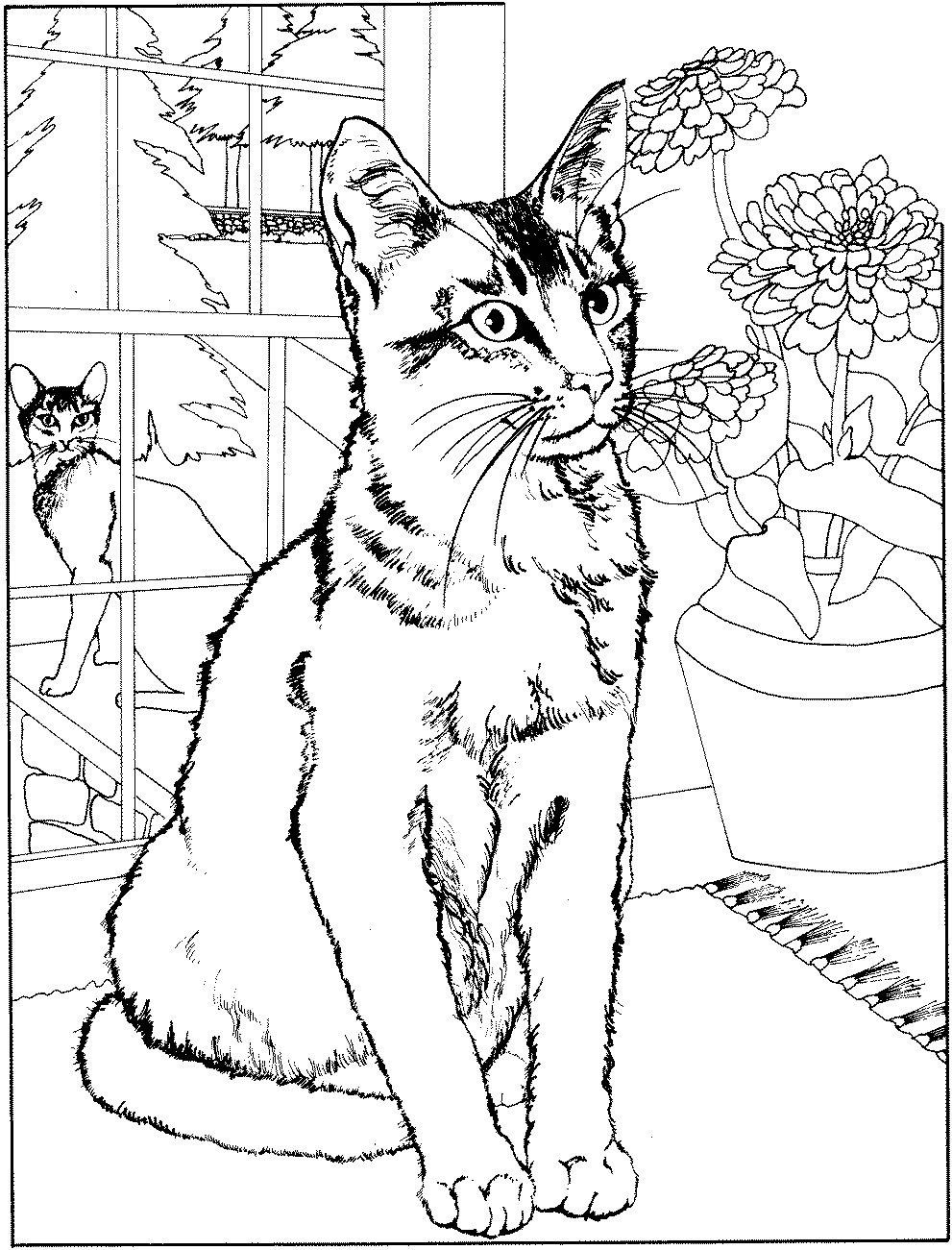 coloriage chat maternelle