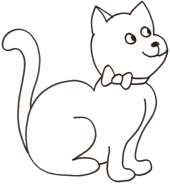 Coloriage d 39 animaux chat - Chat a colorier ...