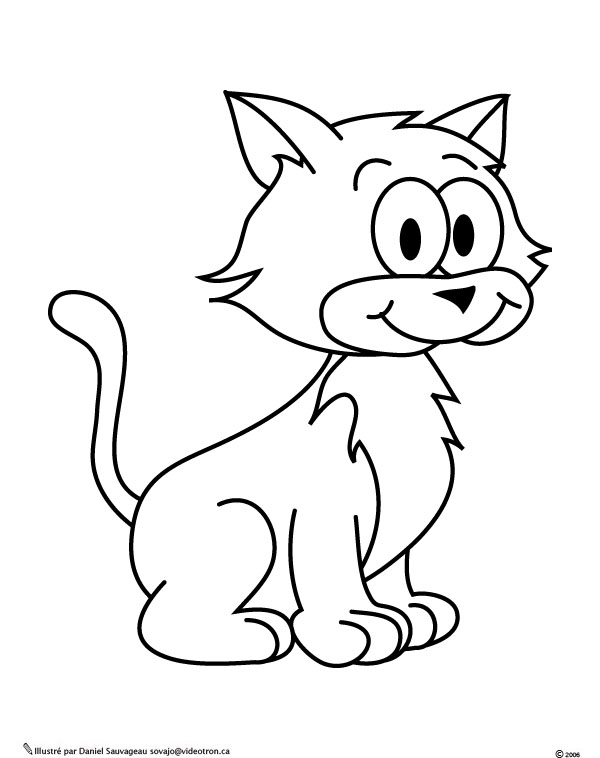 131 dessins de coloriage chat imprimer - Dessin a colorier un chat ...