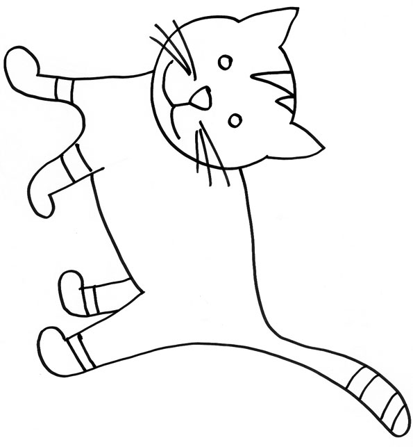 Chat coloriage ligne - Tete de chat a colorier ...
